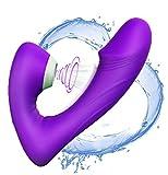 JOURLOVESuccionador de Clítoris con Vibrador ofrece 9 masajeadores de modo de intensidad para mujeresJuguétés Séxuạlés en ParéjasVibrạdórés Clítoris para Mujer Vibrạdór de Puntó G con (púrpura1)